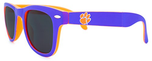 NCAA Clemson Tigers Game Day Sunglasses with Microfiber Carrying Case/Pouch - Fully Folding - Sunglasses Clemson