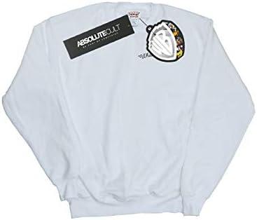 Absolute Cult Looney Tunes Herren What's Up Doc Breast Print Sweatshirt Weiß XXXXX-Large