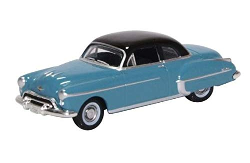 Oxford Diecast 87OR50002 Oldsmobile Rocket 88 Coupe 1950 Crest Blue/Black 1/87 Scale Diecast Model from Oxford Diecast