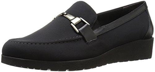 Walking Cradles Women's Flounce Boat Shoe, Black Leater, ...