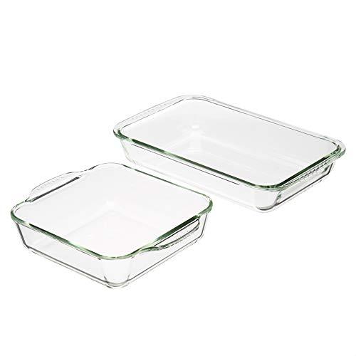 Amazon Basics Oven Safe Glass Baking Dish Set