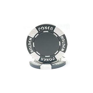 Trademark Poker Suit Holdem 100 Poker Chips, 11.5gm, Gray