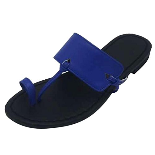 Blu Scarpe Spiaggia Libero Da Clip Ciabatte Donna Heheja Estive Tempo Toe RwvFq0z