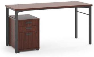 Gestionar Pedestal escritorio acabado: castaño: Amazon.es: Oficina ...