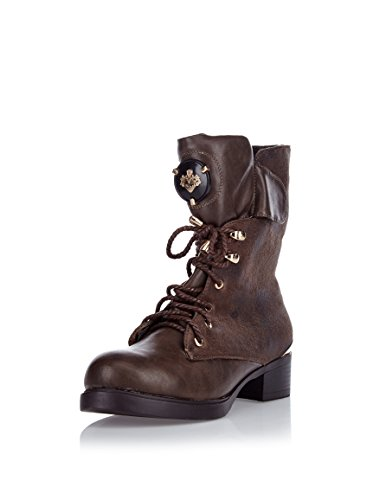 Ch140 marrone Donna Pati kaki Stivali kaki Marrone Poti Marrone vCOqTan