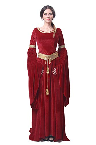 Womens Medieval Maxi Dress Renaissance Princess Girls Long