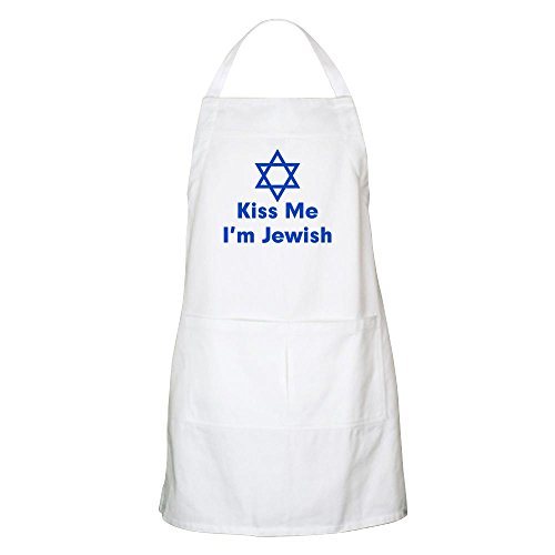 CafePress Kiss Me I'm Jewish BBQ Apron Kitchen Apron with Pockets, Grilling Apron, Baking Apron