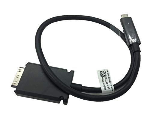 Thunderbolt USB-C Cable for Dell Thunderbolt TB15 K16A Dock WD15 4K K17A001 Compatible 5T73G 3V37X