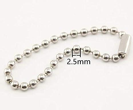 Llavero de metal de hierro de 10 cm, cadena de bolas para ...