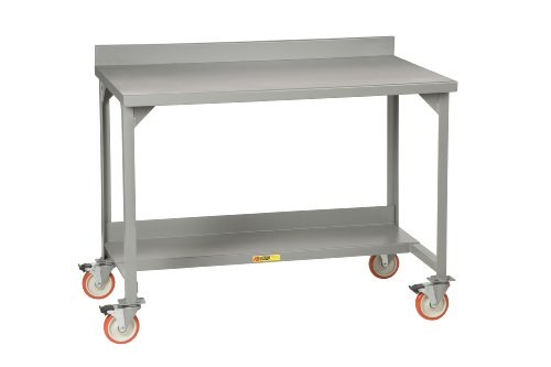Little Giant WM-2860 Steel Welded Mobile Workbench with Backstops and 5