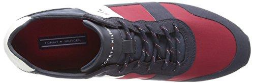 Mix Hilfiger Basses Material RWB Printed Tommy 020 Runner Rwb Homme Sneakers Bleu gOxStw