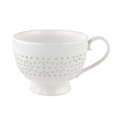 - Cambridge Sandringham Lace Charlotte Porcelain China Mugs Tea Cups, Set of 8