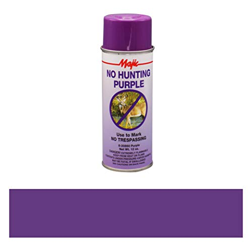 Majic Paints 8-20860-8 No Hunting Purple Spray Paint, Aerosol, No Hunt Purple