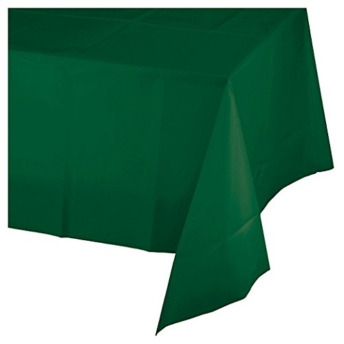 Mountclear 12-Pack Disposable Plastic Tablecloths - 54 x 108 Inch Size Table Cloth (Green)]()