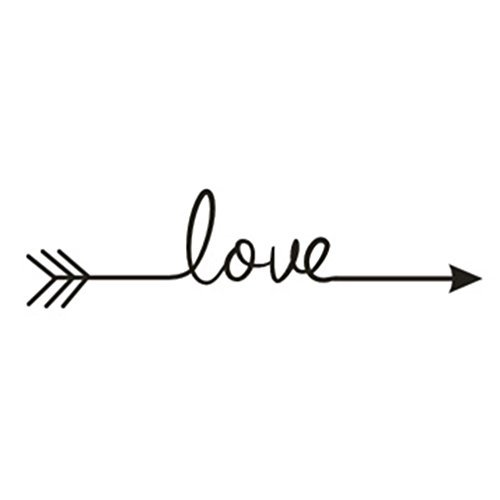 CUGBO Wall Art Decor,Love Arrow Vinyl Carving Wall Decal Sticker for Home - Love Decals