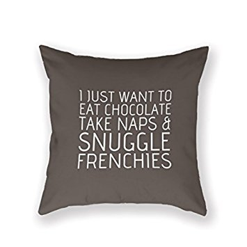 Bueatylife 18In * 18In Of Creative Home Famous Style Bedding Sofa Cushion Cover Bulldog,Frenchie, French Bulldog Rescue Network Pillowcase ()