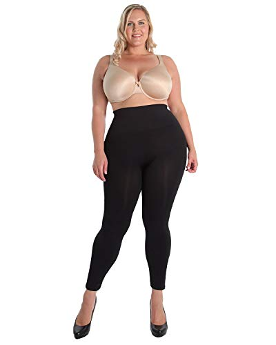 MeMoi - High Waisted Legging Shaper,Msm-110 Black,Queens 2 (Extra Firm Control Long Leg)
