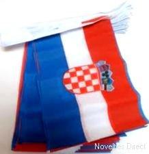 Novelties Direct-Croazia Bandiera rettangolare bandierine, 9m 32bandiere poliestere MIdland