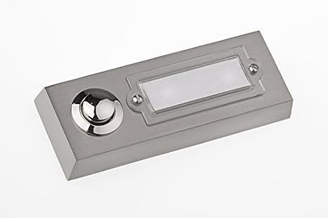 42.00V HUBER Bouton de sonnette bouton poussoir avec 1 bo/îtier dencastrement rectangulaire m/étal et /écriteau en polycarbonate