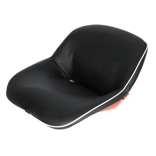 Seat Assembly Vinyl Black with Orange Steel Backed Seat Kubota L245 L275 L235 L185 L345 M4500 B8200 L175 L2350 L225 M7500 M4050 L295 B7100 B6100 L2050 L285 M4000 L355 M5500 B5100 B4200 L260 L210 L200 by All States Ag Parts
