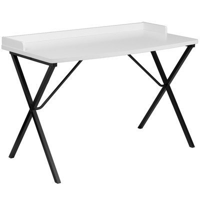Ledge Writing Desk [Set of 2] Color: White by Flash Furniture