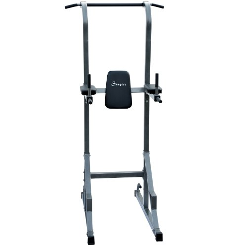 Soozier Fitness Power Tower w/ Dip Station & Pull Up Bar