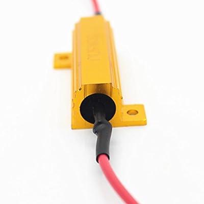 Alla Lighting 2pcs 50W 6ohm Load Resistors - Fix LED Turn Signal Bulb Fast Hyper Flash Blinking Error Code Malfunction: Automotive