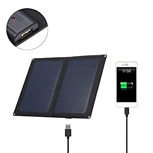 Amazon.com: Lixada Cargador Solar, 12W 5V Plegable Panel de ...