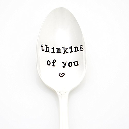 Thinking of You. Hand Stamped Vintage Silverware by Milk & Honey. Part of the Martha Stewart American Made Market.