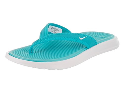 Nike Womens Ultra Celso Thong, Chlorine Blue/White-White, 7