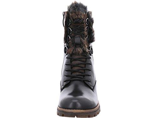 Tamaris Damen Schnürstiefelete schwarz aus Leder Größe 37-41 Black Comb