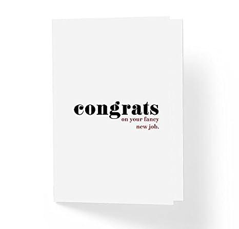 Amazon.com: Felicitaciones en tu nuevo trabajo de Fancy ...