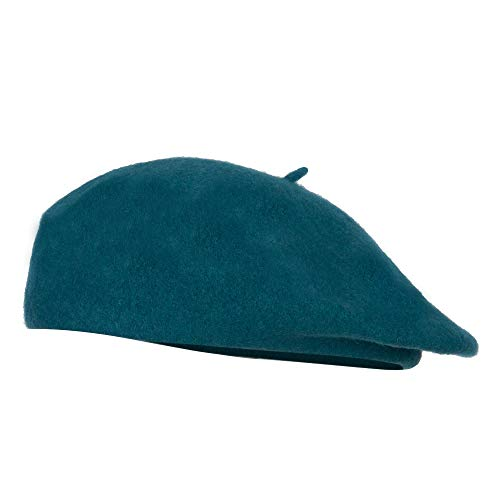 SS/Hat Women's Classic Faux Wool French Beret - Teal OSFM