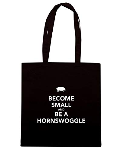 Speed Shirt Borsa Shopper Nera TKC3527 BECOME SMALL AND BE A HORNSWOGGLE