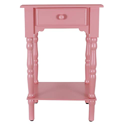 Decor Therapy Coral Side Table, Pink ()
