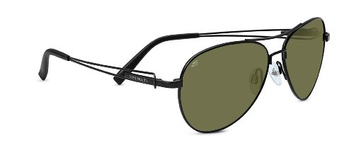 Serengeti Brando Sunglasses, Satin Black Frame, 555nm Lens