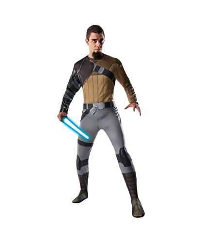 [Star Wars Movie Rebels Kanan Mens Adult Halloween Cosplay Costume] (Rebel Star Wars Costume)
