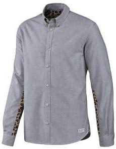 adidas - Camisa Casual - Manga Larga - para Hombre Gris Claro M ...