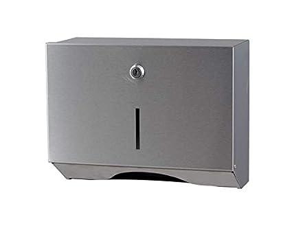 Basic Line Pequeño Toalla dispensador de acero inoxidable con ventana para montaje en pared