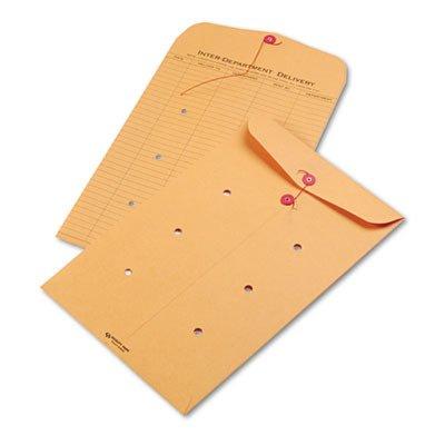 Light Brown Kraft String (Light Brown Kraft String amp; Button Interoffice Envelope, 10 x 15, 100/Carton)