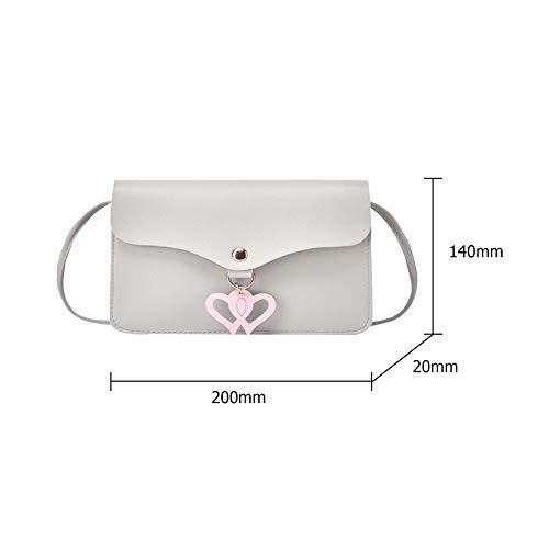 Shoulder Handbags Crossbody Women Heart Bag Grey Domybest Hollowed Bags Fashion Love 1qUSUw