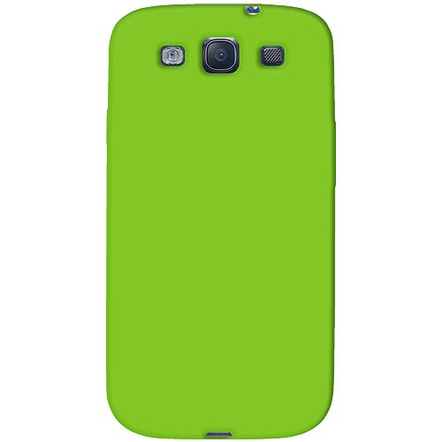 Amzer AMZ93956 Silicone Jelly Skin Fit Case Cover for Samsung GALAXY S III GT-I9300 and Samsung Galaxy S 3 I9300 - Retail Packaging - Green ()
