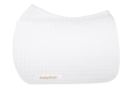 (Back on Track Therapeutic All Purpose Horse Saddle Pad, White)