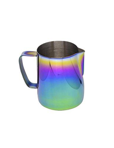 Latte Art | Stainless Steel Milk Frothing Pitcher Spectrum 12 oz Titanium Mirror Finish