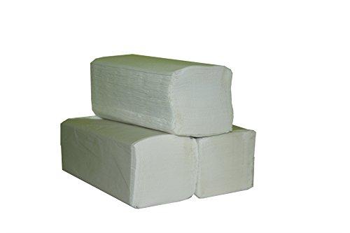 4000 St. Falthandtücher Papierhandtücher 2-lagig weiß, 25x23 cm, ZZ-Falz