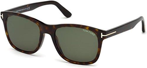 (Tom Ford FT 0595 Eric Sunglasses 52N Dark Havana/Green Lens 55MM)