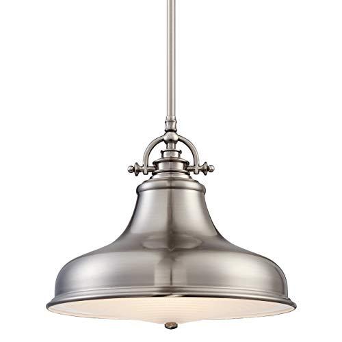Quoizel ER1814BN Emery Vintage Pendant Lighting, 1-Light, 100 Watts, Brushed Nickel (12