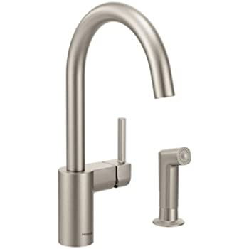 Moen 7165 Align One Handle High Arc Kitchen Faucet Chrome