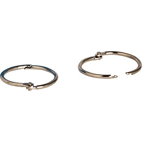 y Book Ring, 1 1/2-Inch Diameter, 100 per Box, Silver (SPR01438) ()