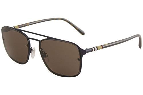 Burberry Men's 0BE3095 Matte Blue/Havana/Brown One Size Burberry Brown Tortoise Sunglasses